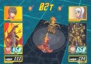 Delta Dragonoid vs Hammer Gorem escaneado por el Bakupop