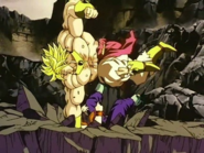 Broly luchando contra Gohan