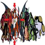 Rath en HU junto alos de mas aliens y personajes de HU