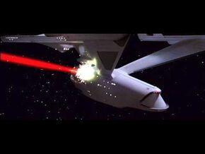 Enterprise fired upon