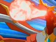 Titanium Dragonoid usando Ataque de Dragon
