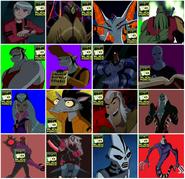Todos los villanos de Ben 10 Fuerza Alienigena