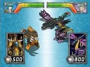 Elico Sub Terra vs Percival y Falcon Fly escaneado por el Lanzador