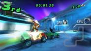 Fuego y Kevin en Kylmyys en Galactic Racing