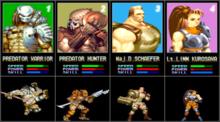 AvP arcade characters