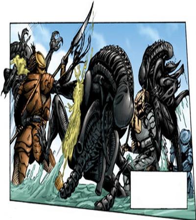 Aliens and Predators fight 01-0