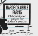 Hardscrabble Farms sign
