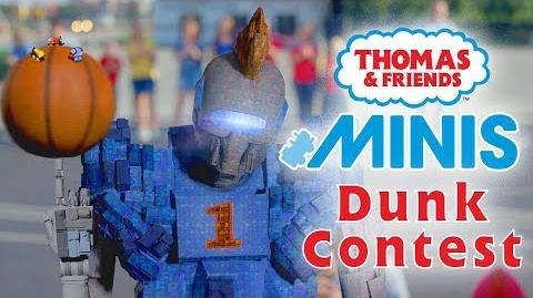 Basketball Dunk Contest with Thomas & Friends MINIS - Playing around with Thomas and Friends