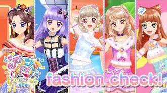 アイカツオンパレード!ミュージックビデオ『fashion check!』をお届け♪