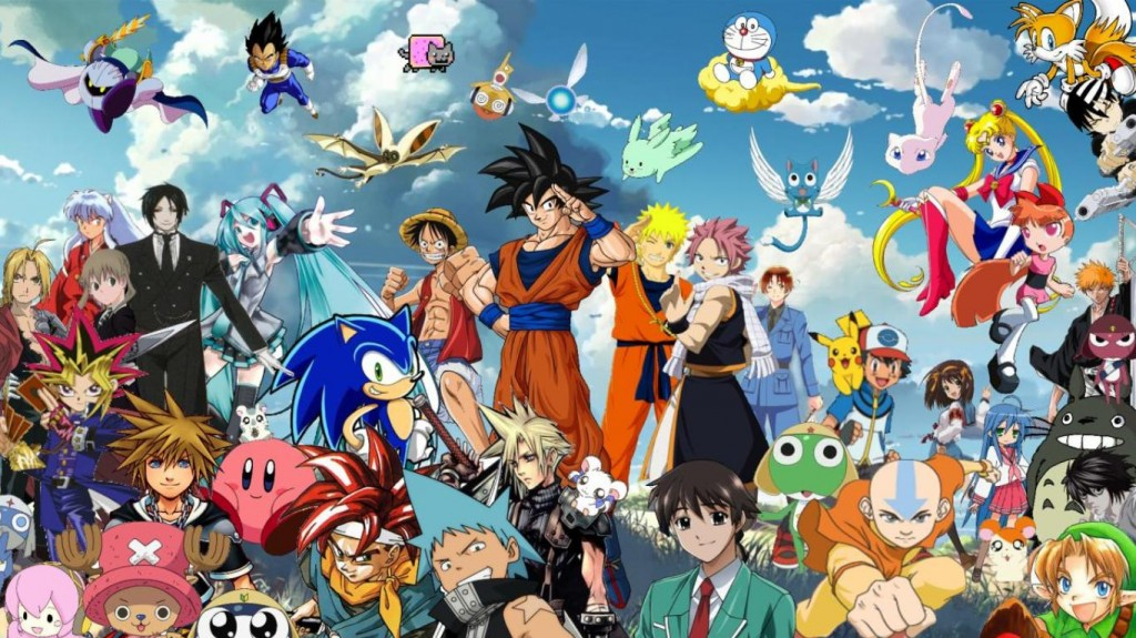 All Anime Characters Wallpaper Together 1024x575
