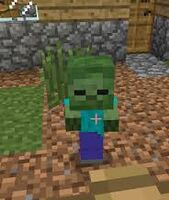 Baby zombie in village