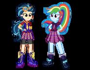 AU Indigo and Rainbow