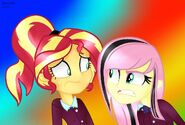 Mlp shadowbolts fluttershy angry and sunset by yulianapie26 da9rvtv-fullview
