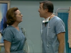 Nurse Bernice and Dr. Shapiro