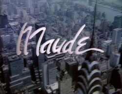 Maude TV series opening screen logo