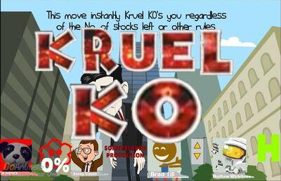 Kruel KO in Talk Room