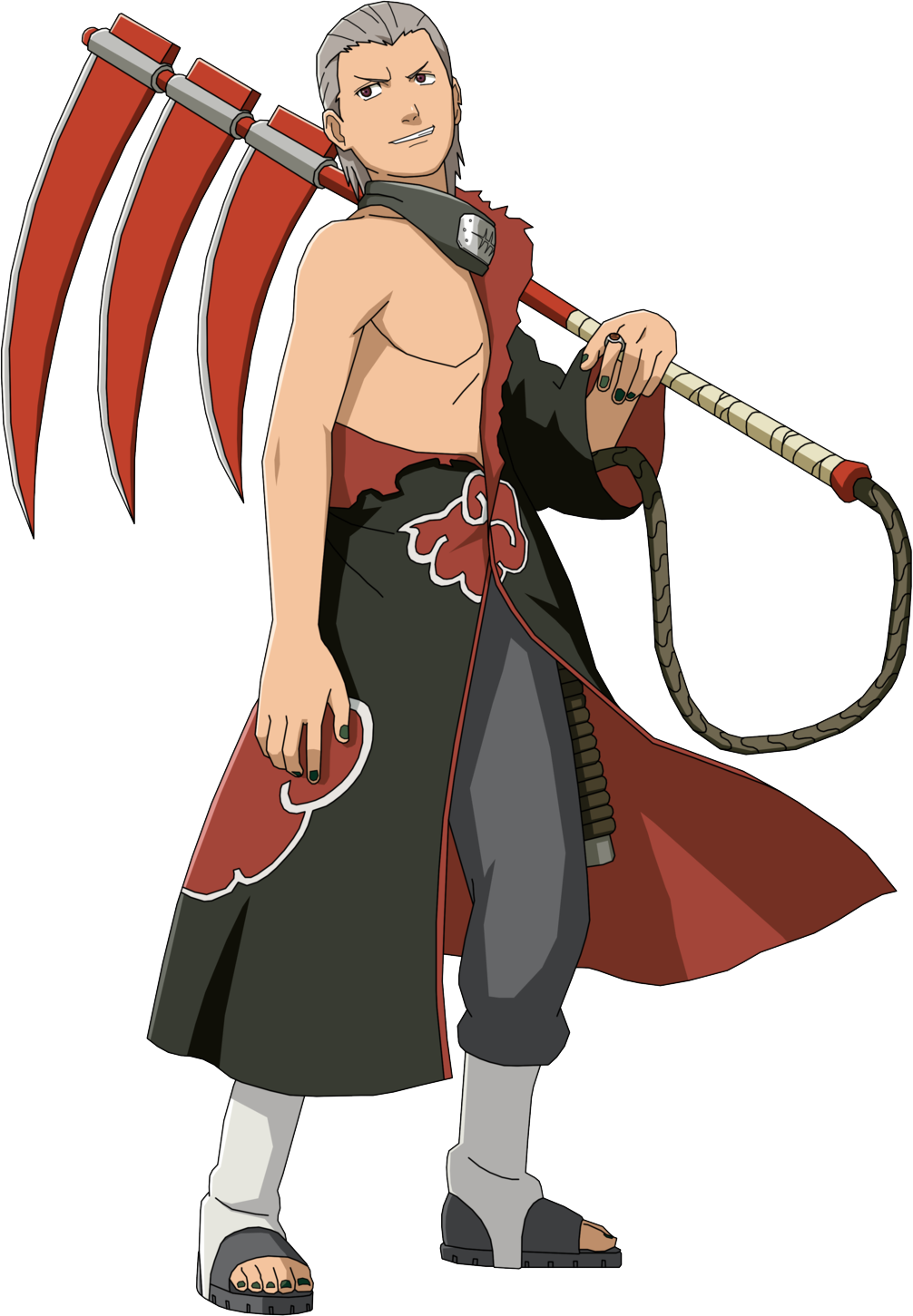 Anime Naruto Akatsuki Member Hidan San Metal Finger Ring Cosplay
