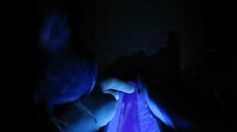 The Cockatiels under a black light