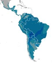 Leopardus range map