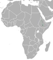 Ethiopian wolf range