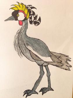 Streamer-headed Crowned Crane