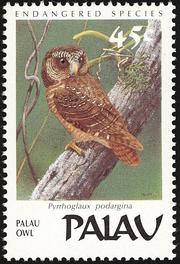 Palau Owl stamp