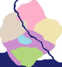 Devonshire map coloured regions