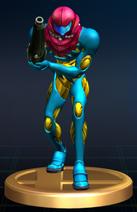 Samus (Fusion Suit) - Brawl Trophy