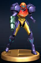 Samus (Gravity Suit) - Brawl Trophy