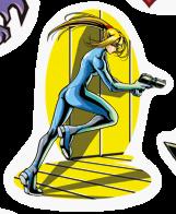 Sticker ZeroSuitSamus Running