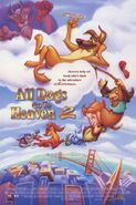 All dogs go to heaven two poster