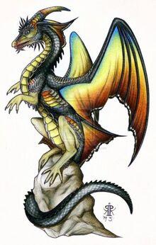 1285664994 rainbow dragon miniature by badhead gadroon