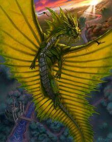 Золотой дракон в гордом полёте