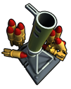 Support mortar strike