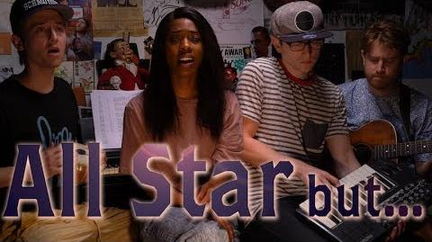 All Star but it's in a minor key so it makes you question life & realize the years start comin and