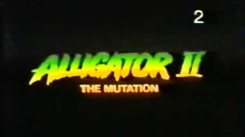 Alligator 2 (The Mutation) Trailer VHS Argentina