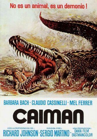 File:Caiman - Alligator - The Great Alligator - Sergio Martino - 1979 - Poster027.jpg