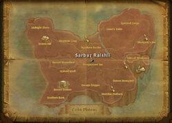 Sarbaz Raishii map