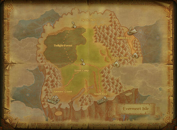 Map evermeet isle
