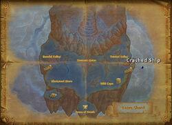 Crashed ship daily map