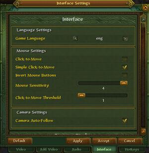 Allods interface