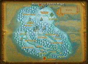 Mysterious demon mage map