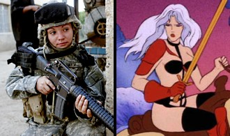 Taarna versus real lady soldier