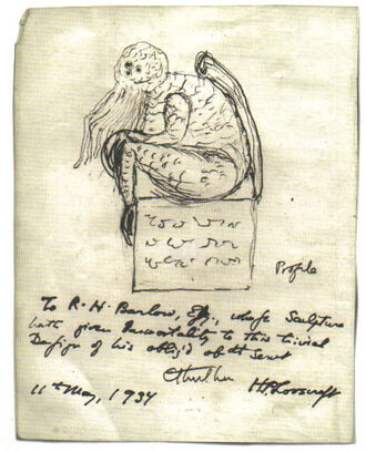 Lovecraft Cthulhu Sketch