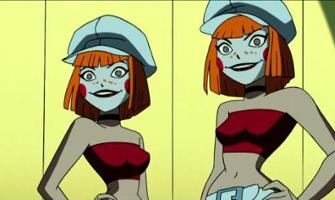 Anime twin lesbians