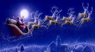 Santa reindeer sleigh 5423