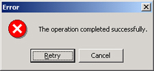 Cit error operation successful2