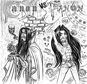 Cropped Canon Vs Fanon Snape by zorm