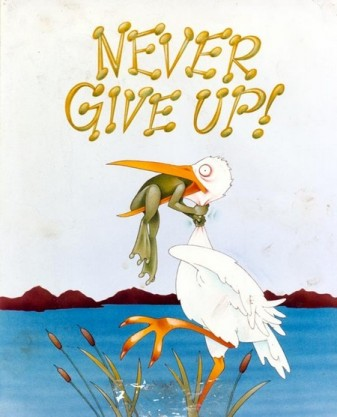 Never give up small 9364