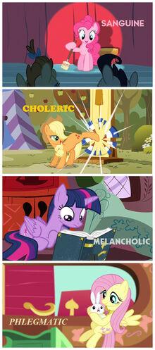 My Little Pony temperaments